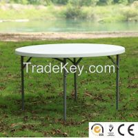 plastic round folding banquet table