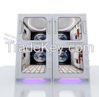 HK Space Capsule Hotel Bed Vertical Single