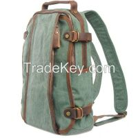 2014 latest design stylish Korean style canvas high school backpack