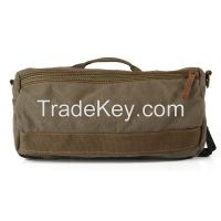trendy canvas and genuine leather single shoulder messenger bags