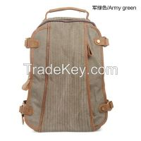 2014 latest design stylish Korean style canvas high school backpack