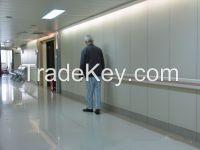 hospital handrail/wall protection