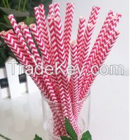 Factory Wholesale Drinking Straw, Paper Straws, Striped paper straws