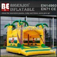Inflatable bouncy castle monkey