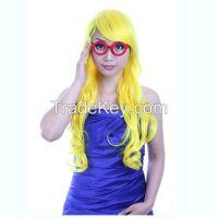Non-mainstream color wig Long curly white hair long bangs Ball head st