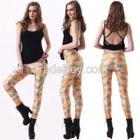 Europe and the United States women's sky 2014 digital printing legging