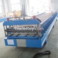 Roof sheet roll forming machine for making roofing sheet