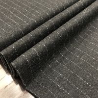 Stripe design printed TR suiting fabric
