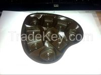 chocolate inner tray blister and clamshell