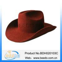 2015 new fashion wool felt roll brim cowboy hat