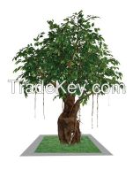 artificial plants,artificial trees,artificial flowers,artificial grass,Artificial green bonsai,