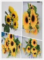 artificial wholesale bouquet sunflower, bunch flowers on sale