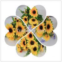 artificial wholesale bouquet sunflower, bunch flowers on sale