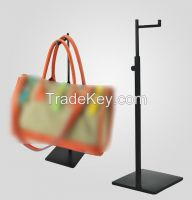 Adjustable Height Handbag Display Stand Stainless Steel Women Bag Display Rack Holder