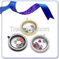 stainless steel floating living memory locket