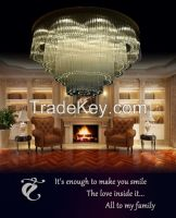 GKC0002 Width 1000mm Giking Lighting Good Quality Classical Big Ceiling Lamp Crystal Ceiling Lamps