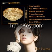 GKC0001 Width 1000mm Giking Lighting Good Quality Classical Big Ceiling Lamp Crystal Ceiling Lamps