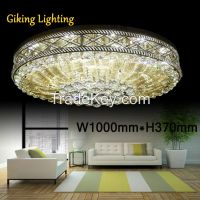 GKC0005 Width 1000mm H370mm Giking Lighting Good Quality Classical Big Ceiling Lamp Crystal Ceiling Lamps