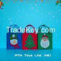 Cheap Christmas Decoration Nonwoven Shopping Gift Bag Supplier