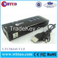 WBTUO 3port usb3.0 hub with rj45 lan ethernet adapter