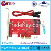 pcie x4 to NGFF(m.2) SSD adapter +Sata to M.2 SSD converter card