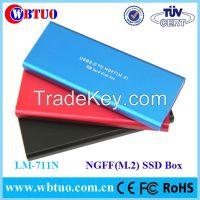 WBTUO portable Aluminium NGFF(m.2) SSD enclosure case