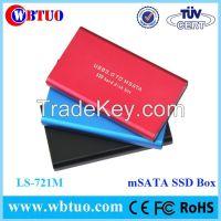WBTUO portable Aluminium msata SSD enclosure case