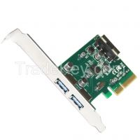 pcie X4 to 2port USB3.1 type C w/ SATA 15pin expansion card