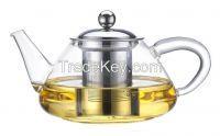Heat resisting glass teapot coffee maker JMHF161B