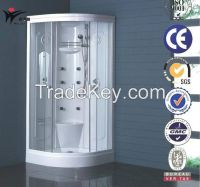 sector arc curved shape sliding glass door shower cubicel unit