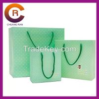 Factory made custom paper shopping bag