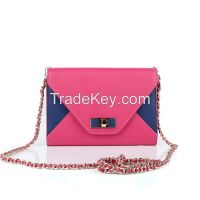 Women's zipper shoulder bag