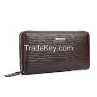 Men's Embossed Zippered Wallet