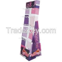 Attractive Cardboard Hanging Hook Display Stand for jewelry