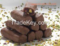 Pistachio Turkish Delight Bars with Chocolate