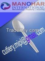 Disposable plastic spoon , Fork, knife , Drinking straw