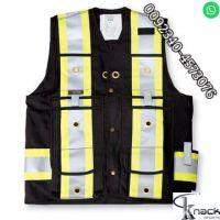 HI VIS Two-Tone Softshell Work Safety Jacket Coat High Visibility Workwear