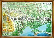 Map with panorama effect Ukraine