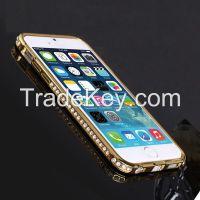 SHENGO�  Luxury Diamond Metal Bumper for iPhone6