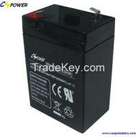 6v4.5ah rechargeable 6volt sla light battery