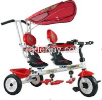 2014 hot sale baby tricycle two seats /twins baby tricycle