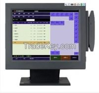 "Hot sale 15"" all in one touch pos pc with magnetic card reader"