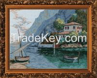 Sea Bank - Counted Cross Stitch Kit with Color Symbolic Scheme