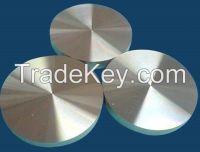 table using round aluminum piece