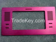 machined aluminum plate for electronic