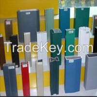Aluminium extrusion with wooden color powder coating surface