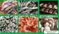 Frozen, Canned and Smoked Sea Food, Fish, Tuna, Mackerel, Hake, Snoek, Oysters, Mushroom