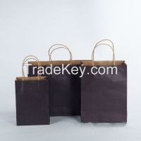 Fancy custom printed kraft paper bag for apparel shopping bags