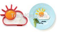 sunnyside-shaped silicone egg poachers