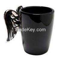 creative ceramic mug with wing handle